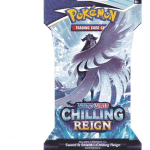 Pokemon Sword and Shield 6 Chilling Reign Sleeved Boosterpack